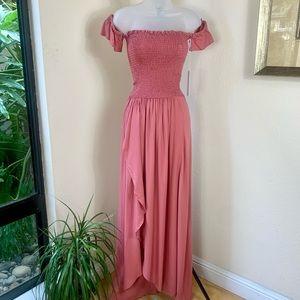 YOUNG FABULOUS & BROKE Frida maxi Dress NWT S pink